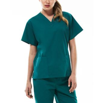 Tailored Plain Scrub Suit Set (Moss Green)-Small Price Philippines