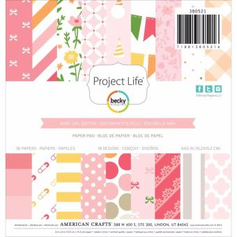 American Crafts 6x6 Paper Pad - Baby Girl Edtion Price Philippines