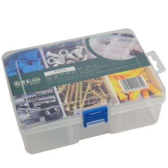 PP 6 grids Multifunctional parts storage boxlattice adjustable tool box / components box / parts box Price Philippines
