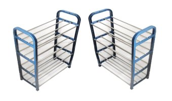 R18-4 Portable 4-layer Shoe Rack, Set of 2 (Navy Blue) Price Philippines