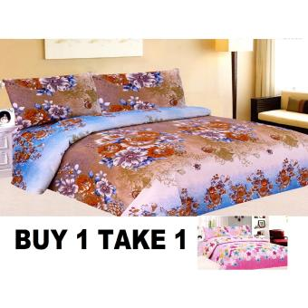 Harga BUY 1 TAKE 1 3-Piece Queen Size Bedding with Luxury Cotton Feel- Nostalgia and Gardens of Fairies Series by Manhattan Homemaker
