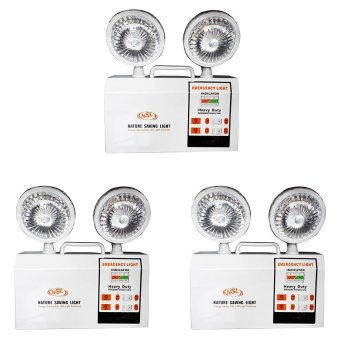 Harga NSL H14-NSL12 Emergency Light Set of 3 (White)