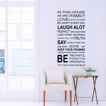 Harga Fashion Design Family English Quote Proverbs Wall Stickers Room Art Decor Removeable Decals DIY