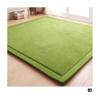 BUYINCOINS Floor Carpets Comfort Smooth Mats(Moss Green & 80*200cm ) - intl Price Philippines