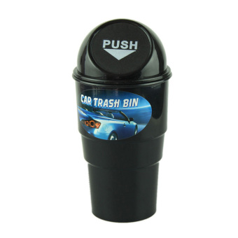 Harga Bigskyie NEW car garbage can Car Trash Can Garbage Dust Case Holder Bin Black Free shipping - Intl