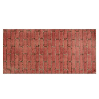 Harga Rustic Brick Effect Rock Stone Textured Wall Sticker Paper Red