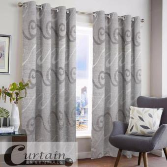 "Home Classy Decor Caesarea Sea Haze Grommet Jacquard 52"" x 72"" Double Panel Curtain (CD-62) Price Philippines"
