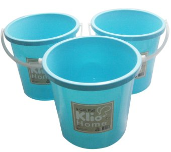 Klio Water Pail Colored 4 Gallon H004 (Green) Price Philippines