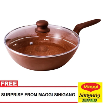 Harga Masflex 28Cm Marble Forged Deepfrypan W/Lid with Free Surprise from Maggi Sinigang