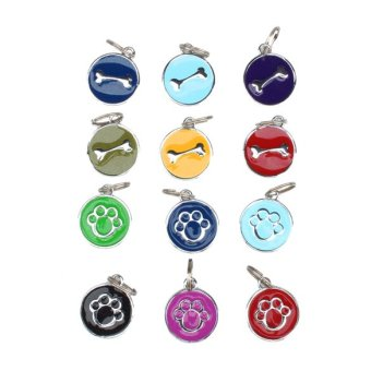 1pc Anti-Lost Stainless Steel Pet ID Tag (Multicolor) Price Philippines