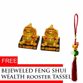 Harga 2017 feng shui year of rooster Pair of Feng Shui Pi Yao with Free Wealth Rooster Tassel