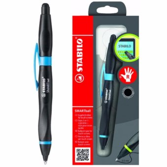STABILO Smartball BP Right - Black/Cyan Blue Price Philippines