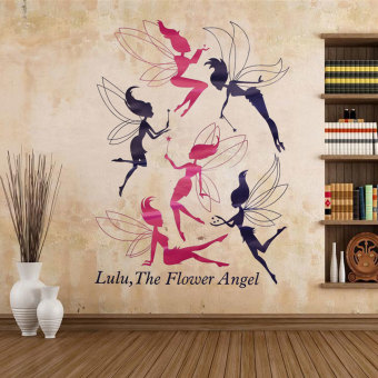 Hot 6 Flower Angel Fairy Wall Sticker Decal Kids Room Decor Removable Wallpaper Price Philippines