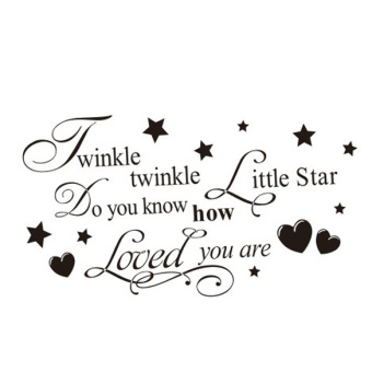 Harga Removable Twinkle Twinkle Little Star Quote Wall Sticker Kids Bedroom Decal