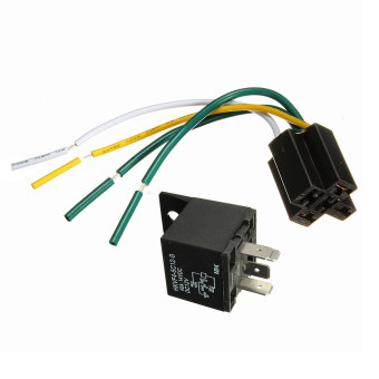 1X 12V 12Volt 30A/40A Auto Automotive Relay Socket 30 Amp / 40 Amp Relay & Wires Price Philippines
