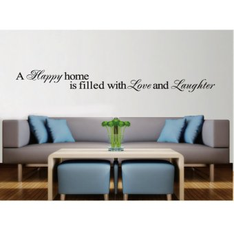 Harga Wallmark Happy Home Wall Sticker