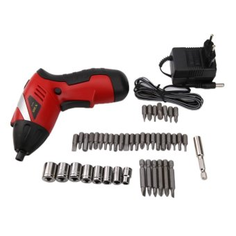 Harga Electric Drill Cordless Screwdriver Rechargeable Electric Power Tools - intl