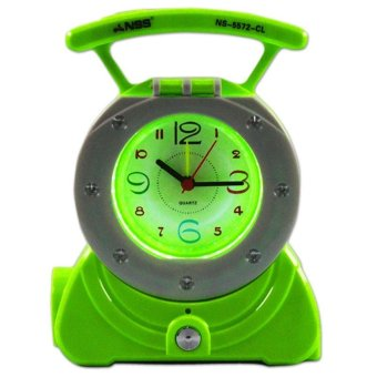 Harga NSS 3-in-1 NS-5572-CL LED Electronic Torch with Clock (Light Green)