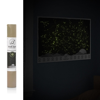 Harga Universe Star Map Glow In The Darkness Light Night Sky Constellations Zodiac Picture Wall Stickers