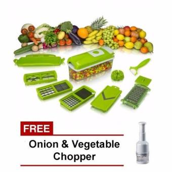 Harga Nicer Dicer Plus Multi-Chopper Slicer with Free Onion Chopper