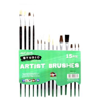 Harga Mont Marte Studio Essentials Paint Brush Set 15 Piece
