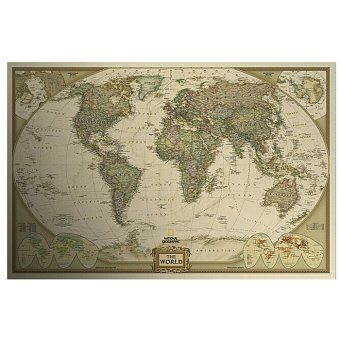 Harga OEM Antique Vintage Paper The World Map DIY Mural Wall Sticker Decals Home Decor