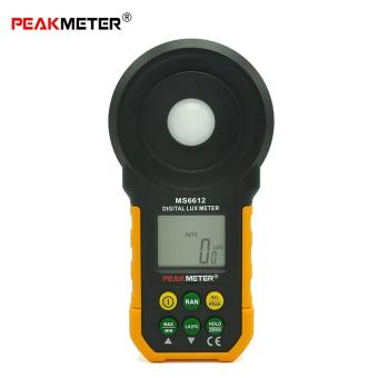 PEAKMETER MS6612 High Accuracy Lux Light Meter Test Spectra Auto Range Multifunctional Digital Luxmeter (Yellow) - intl Price Philippines