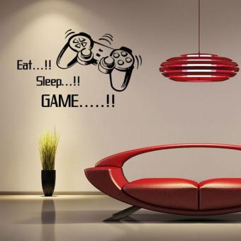 Eat Sleep Game Letters Game Controller Vinyl Wall Stickers - intl Price Philippines