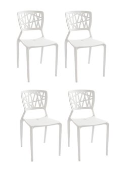 Harga SD-452 Bamboo Chair- Set of 4 (Off White)