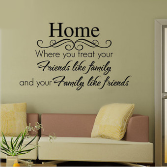 Harga Quote Home Friend Family Art Word Vinyl Decal Removable Wall Sticker Mural Decor - intl