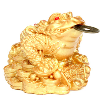 Feng Shui Money LUCKY Fortune Oriental Chinese Ching Frog Toad Coin Home Decor Price Philippines