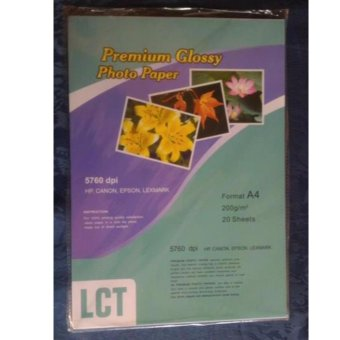 Harga LCT Premium Glossy Photo Paper 200gsm A4 20Sheets