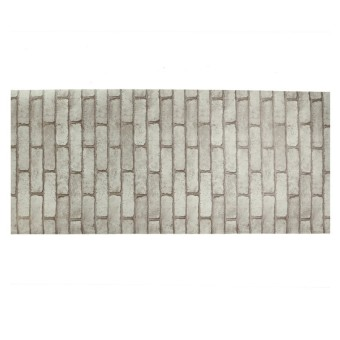 Harga Rustic Brick Effect Rock Stone Textured Wall Sticker Paper Grey