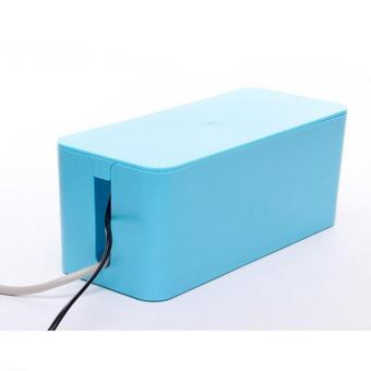 Harga Plastic Wire Storage Box Cable Manager Organizer Box Power Line Storage Cases Junction Box Household Necessities ( L ) 40.5X15.5X13.5CM - intl