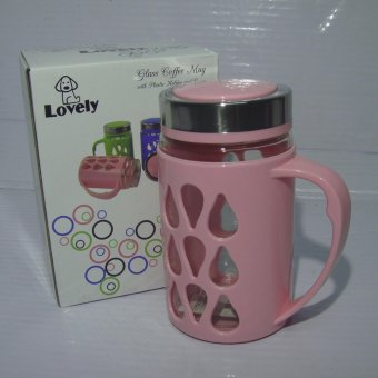 Harga Fashionable Mug with Plastic Protector Pink