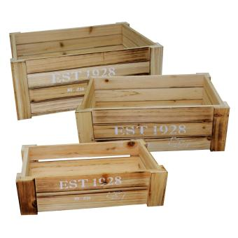 Harga 3 PC Wooden Organizer Crate Set