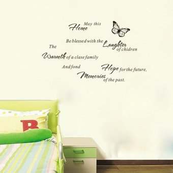Harga May This Home Be Blessed With The Laughter Quote Saying Art Wall Decal 42cm*83cm