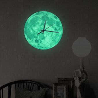 Funlife 30x30cm Glow In The Dark Moonlight Moon Wall Clock Decal For Kid's Room Home Decoration Price Philippines