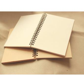 Harga Brown Cover Brown Page 180X120mm 50Sheets Blank Notebook