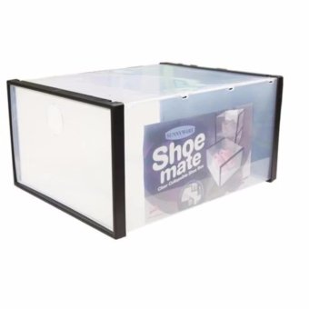 Harga J&J Shoe Mate Clear Collapsible Shoe Box - Large
