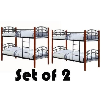 Harga Hapihomes Astoria Double Deck Bed Frame SET OF 2 (TWO)