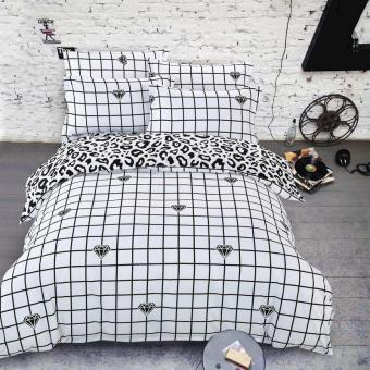 Summer Style Cotton Bedding Sets Super Soft Owl Twin Full Queen King Nordic Style Comforter Duvet Cover Bed Sheet Pillowcase (028) - intl Price Philippines