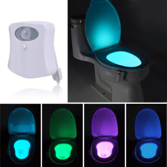 Motion Sensor Sensor Automatic Seat LED Night Light For Toilet Bowl Lid Colorful Price Philippines