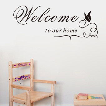 Harga Welcome to our home Quote Removable Vinyl Decal Wall Sticker Home Decor DIY