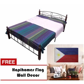 Harga Hapihomes Paris Hilton 48' x 75' Bed Frame w/ Flag wall Decor