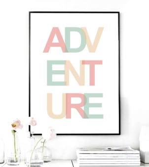 Harga Adventure Quote Canvas Art Print Painting Poster, Wall Pictures for Home Decoration, Home Decor YE128 (Intl)