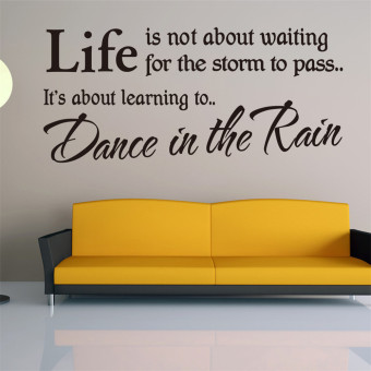 Harga Dance In The Rain Wall Quote Sticker Art Decals Vinyl Decal Decor Stickers New