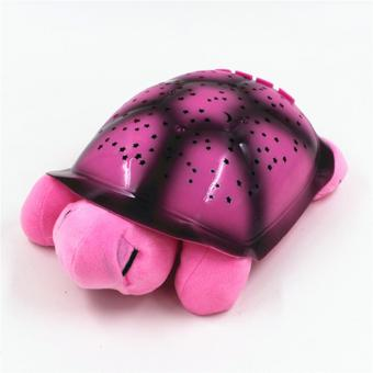 Harga YingWei Turtle Night Lamp Sky Projection Lamp Turtle Night Light Stars Lamp and Music Children's Toys Star Projection Lamp-Pink - intl