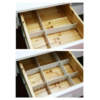 Andux 6pcs/set Drawer Divider Storage Organizer CTFGB-01 White - intl Price Philippines