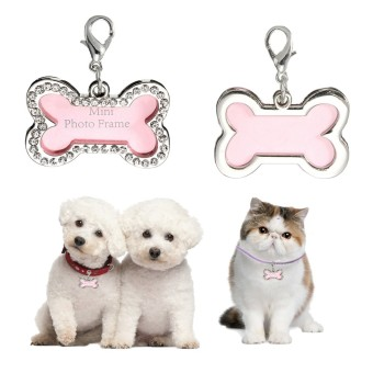 Stainless Steel Pet Cat Dog Bone In ID Dog Tag Form Tags Custom - intl Price Philippines